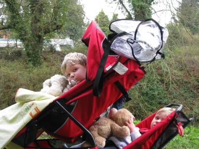 Two lads - Tandem 'Zimmer' trip... great fun... beware of dropping a teddy...