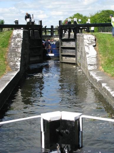 #1 - Start of 'The Levels' at Fern's Lock... boat entering the top chamber