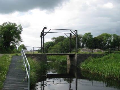 The draw bridge... must always be left in the lowered position after passing through...
