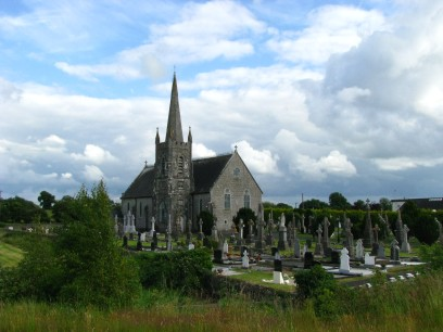 All neat and tidy... the church at Coralstown