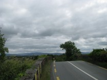 Looking south from Collins Bridge... the Dublin Mountains in the distance...