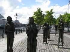 The Famine Memorial on the North Wall... moving!