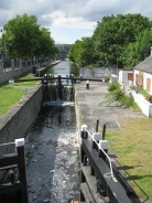 The First Lock as seen from Newcomen Bridge... Croke Park comes into view