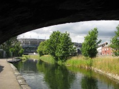 A peep from beneath Summerhill Parade Bridge...