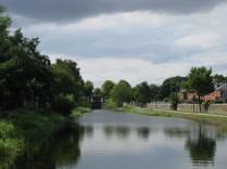 The canal is picturesque in this area... the 3rd Lock in the distance....
