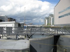 The new sea lock gates...