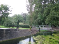 Just downstream of the lock... a spill weir.