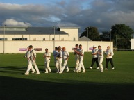 The NKCC lads clap their star off the filed after the win... the star... Rob N... he with the hands in pockets!! ;-)