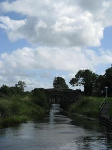And back up the lock... note the one wall of the bridge crumbling...