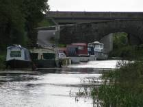 The boats at Furey's... the Moyvalley bridges. The second from left is Meave... friendly canal holiday cruise...