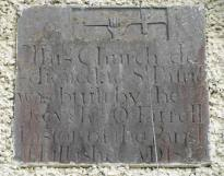Inscription plaque on the west wall... tells the story...