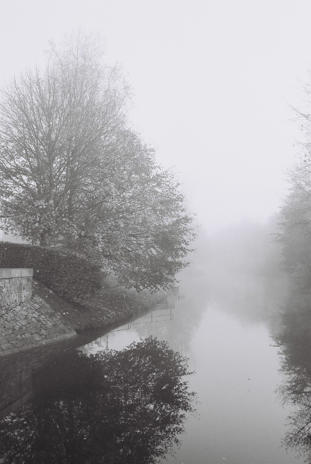 Enfield Harbour in the mist... my B&W rendition...