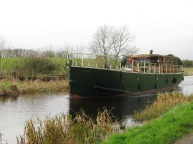Rambler passes the 2 Leech Barges... the last commercial boats to work the Royal before the canal closed in the Sixties...