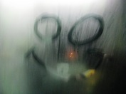 Train window smiley... beaming down on the lads...