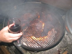 Braaiing in the blizzard... some way to get the new year going... steak... always a pleasure! ;-)