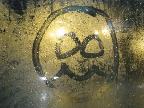 Train Window Smiley's... oh what fun I have on the way home! ;-)