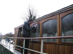 More crew duties... junior son gets window detail... kept him busy for quite a while...