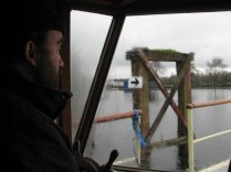 EC in pensive mood as we head through Maynooth Harbour... could he bewondering which way to go?
