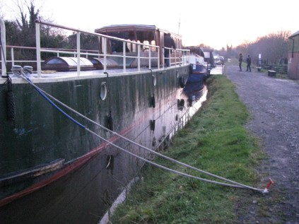 The Rambler in her winter mooring... here she'll rest after her eventful 2011. Looking forward to following her 2012 action!