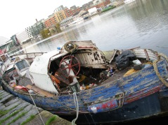 Quaint old boat... when last did she move anywhere? Is there another ride left...