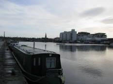 The view across from 18 Hanover Quay...