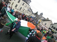 Carry that Tri-colour... all part of the fun!