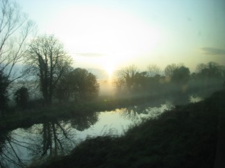 That's what you get on the early morning train... lip from the lad... The Mouth... and beautiful sunrises!