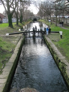 The 1st Lock as seen from Mcquay Bridge on Grand Canal Street...