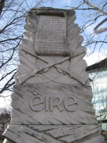 The 1916 Easter Rising monument at the 2nd Lock... history all around.