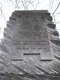The reverse of the monument...