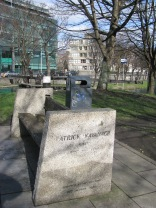 The Patrick Kavanagh bench at the 4th Lock. His was the request, no monument... just a bench along the canal...
