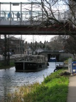 Beneath the new LUAS Line and Station... that's Charlemount Bridge in the distance...