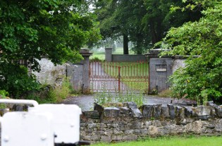 The gates to the Landenstown House estate... by-gone glory
