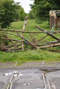 New aged art? No... just a improvised gate to guard the old peat trolley tram line...
