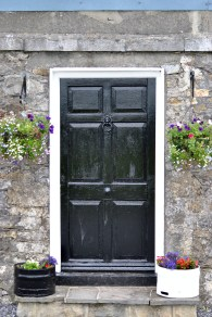 Pretty front door of the lock keepers cottage....