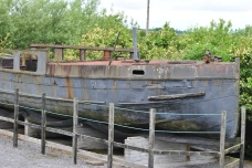 This old barge is an exhibit at Lock 26... seems a bit of a museum... if it opens...