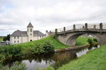 A look back at the church and bridge at Pollagh