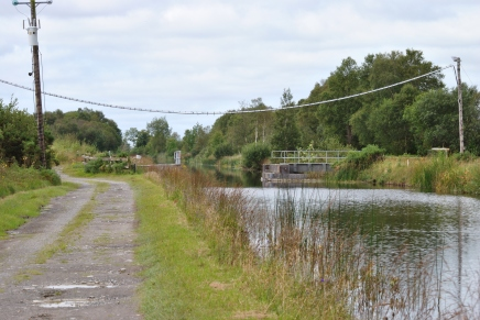 The first man made structure on the day's walk... the Bord na Mona swing bridge...