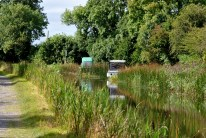 The first signs of boats... a tranquil rural canal setting