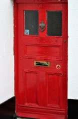 Red door... no, I couldn't resist sticking a few fliers in the post box slot