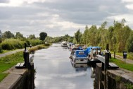 Looking west from Lock 35 to Lock 36, the last lock on the Grand... destination endpoint!