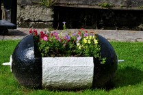 Interesting flower pot, could it be made from a redundant marker buoy?