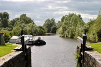 On the lock gate... looking west toward the Shannon...