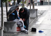 Living rough... the streets of Dublin tell their own story...