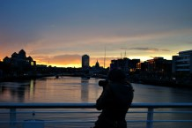 Friday evening walk... magic!! The Liffey's... Dublin's elixir....