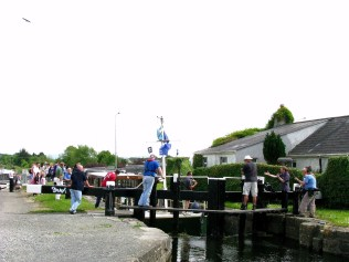 Rambler leaving Kilcock, Royal Canal, Ireland...