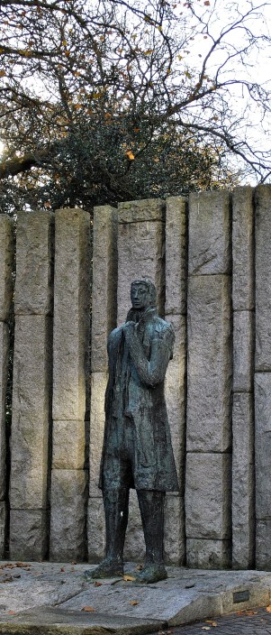 The imposing statue of Wolfe Tone at the Merrion end of St Stephen's Green