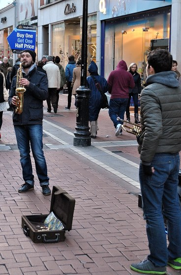 The sax and trumpet show...