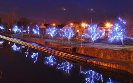 Christmas Lights at the harbour in Kilcock
