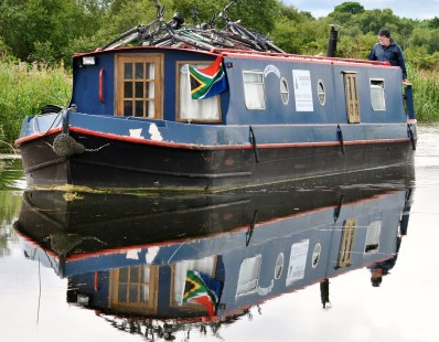 Seeing double on the still Grand Canal water...